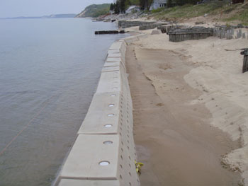 Sandsavers Installed, Sandsavers building beach, Sandsavers beach accretion, Natural Solution to Beach Erosioin